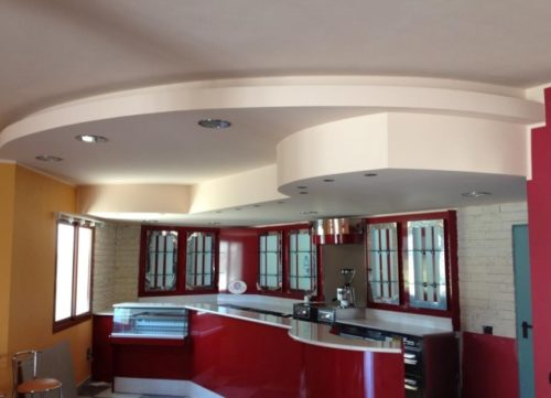 Фигурные потолки из гипсокартона