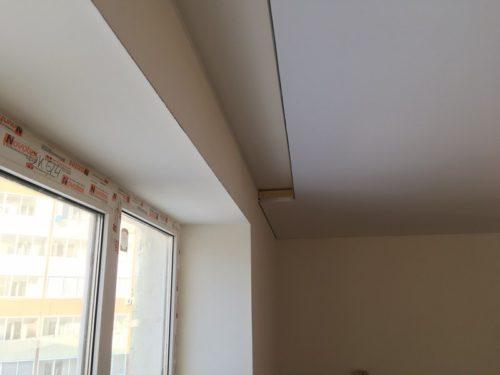 Потолочная гардина на натяжной потолок