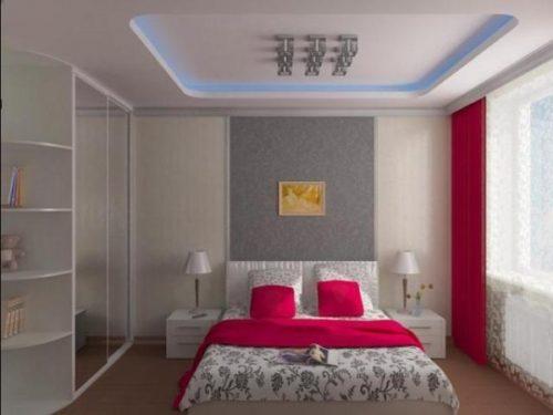 Двухуровневые потолки из гипсокартона с подсветкой