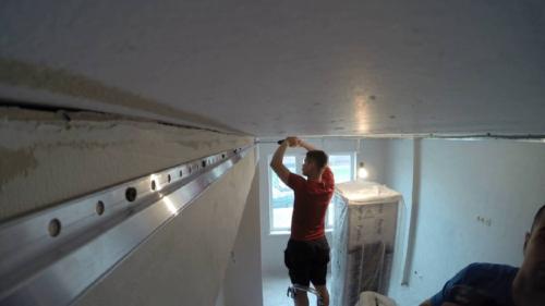 Крепление натяжного потолка к гипсокартону