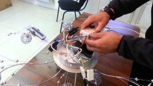 Схема подключения люстры с пультом управления