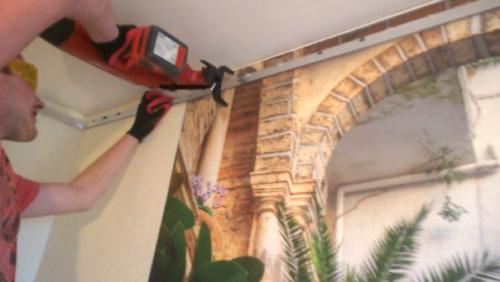 Натяжные потолки без нагрева своими руками