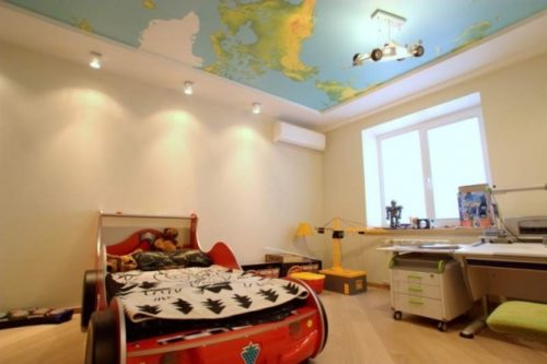 Натяжные потолки в детскую комнату