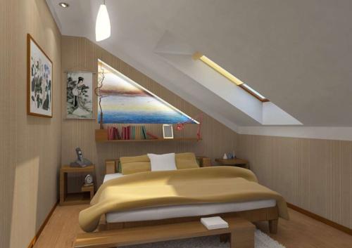 Потолок мансарды: отделка и свет