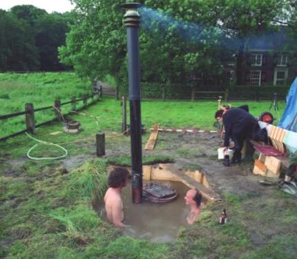 Купель для бани: с подогревом, угловая, на дровах