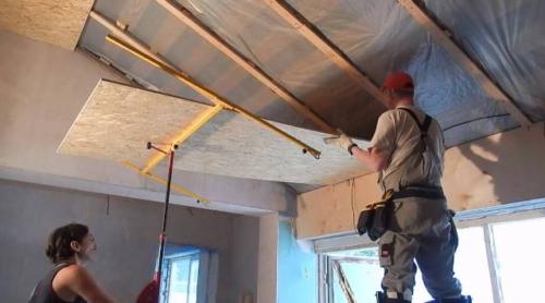 Подшивка потолка ОСБ-плитой