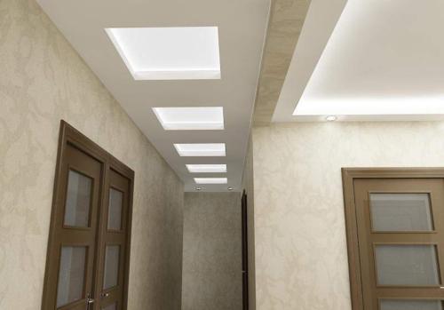 Потолок в прихожей из гипсокартона