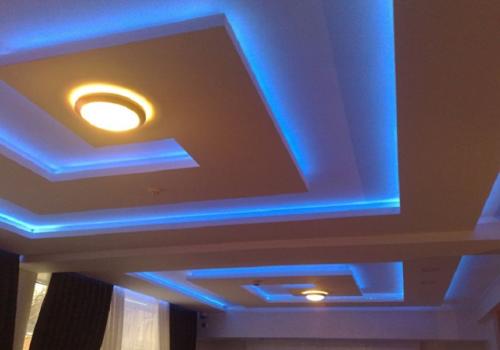 Подвесные потолки из гипсокартона: фото, дизайн