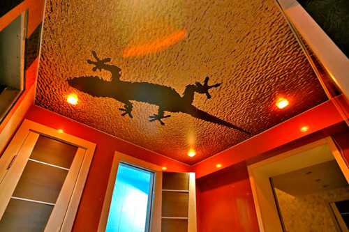 Натяжные потолки 3д в интерьере