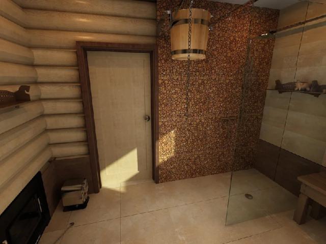 Отделка парной в бане