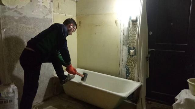 Печь из чугунной ванны