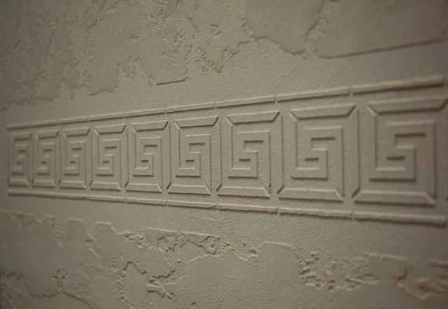 Трафарет для штукатурки: под кирпич, камень, кожу крокодила, фото